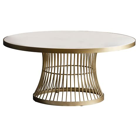 ● glamorous style for luxurious living. Marble Topped Round Coffee Table - Gold | Primrose & Plum