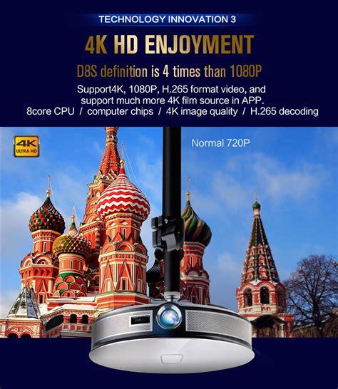 high lumen portable projector d8s 3d projector 1gb 16gb silver