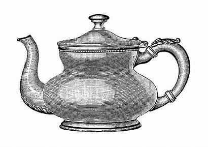 Kitchen Coffee Pot Teapot Illustration Digital Clip