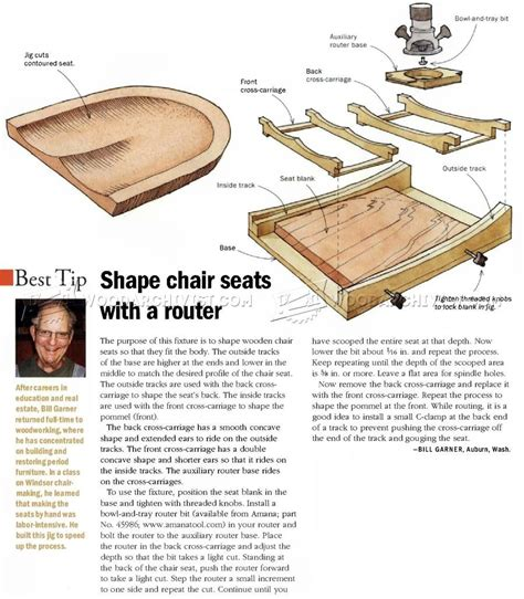 chair seat scooping jig woodworking tips  techniques