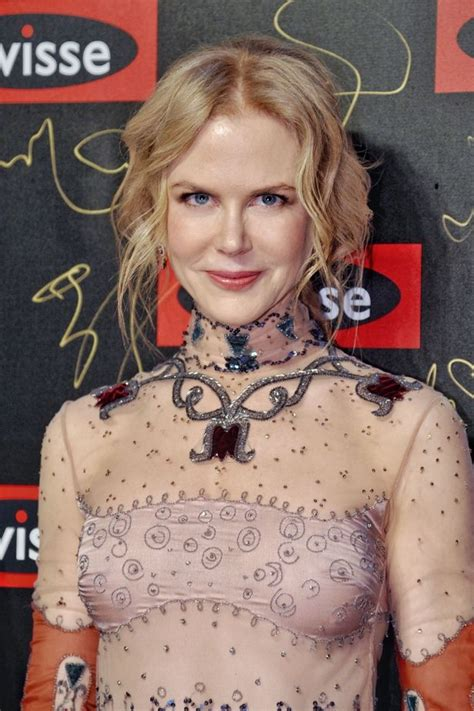 Nicole Kidman Transparent Dress
