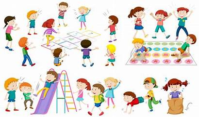 Games Children Play Different Spiele Clipart Spielen