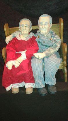 vintage william wallace jr grandma grandpa  porcelain