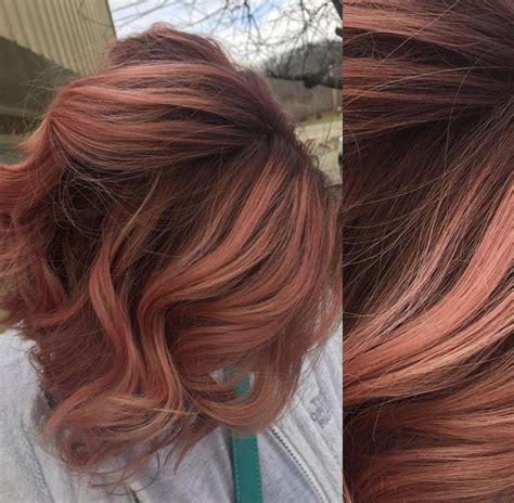 image result  rose gold hair brunette angled bob
