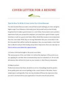 how to make the cover letter