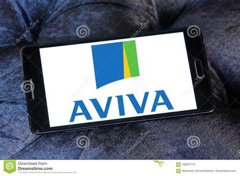 aviva siege aviva insurance company logo image stock éditorial image