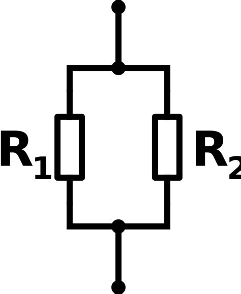 File Parallel Resistors Svg Wikimedia Commons