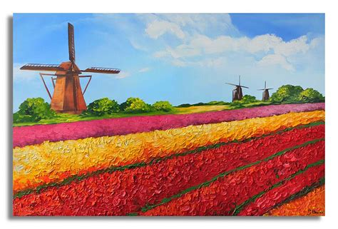 how to frame a door hollands landschap schilderij jouwschilderijwebshop nl