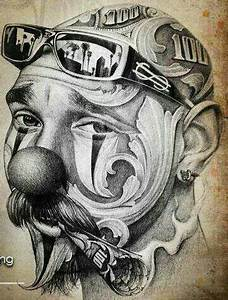 98 Gangster Girl Clown Drawings Bing Images Chicano Girl Clowns 40