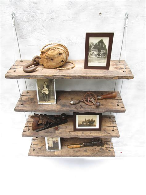 rustic wall shelf rustic shelves distressed shelf barn wood shelves reclaimed