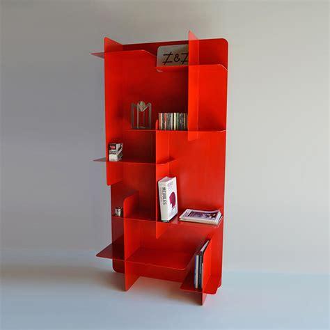 3 Modern Red Metal Bookshelves