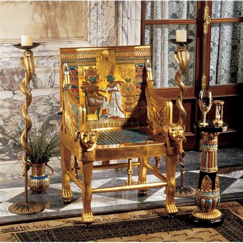 King Edwards Chair Replica by Ancient Size King Tut Throne Chair Replica