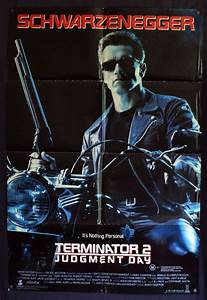 All About Movies - Terminator 2 movie poster Original One ...