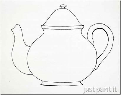 Tea Teapot Coloring Pages Templates Teacup Cups