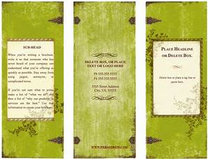 weathered tri fold brochure template for pages free iwork templates With pages brochure templates free