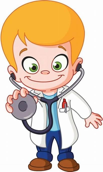 Doctor Clipart Cartoon Clip Hospital Dibujos Doentes