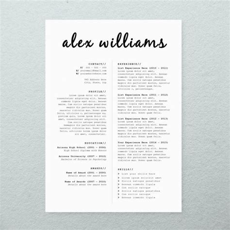 creative resume cover letter templates 25 best cv design trending ideas on layout cv creative cv design and curriculum