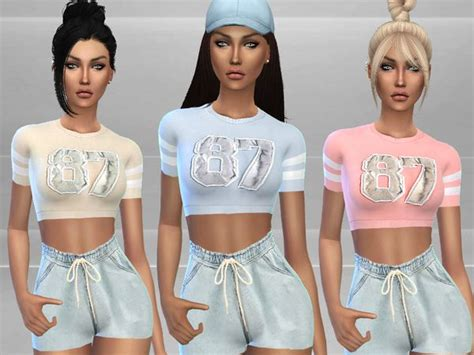 sims resource gym outfit  puresim sims