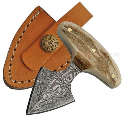 damascus push dagger fixed blade knife osograndeknives