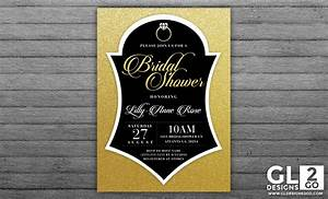 Tag archive for quotgold and black bridal shower invite for Black and gold wedding shower invitations