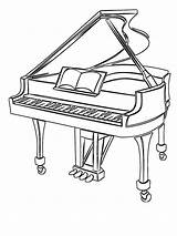 Piano Grand Coloring Mycoloring Printable sketch template