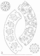 Cupcake Coloring Wrappers Toppers Printable Ohmyfiesta Firstcommunion sketch template