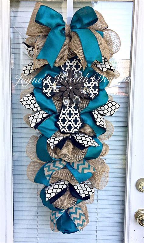ideas  burlap ribbon wreaths  pinterest
