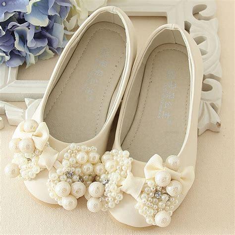pearls flower girls wedding shoes   style luxury