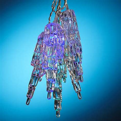 solar powered led icicle lights solar powered 10 light clear icicle led string lights