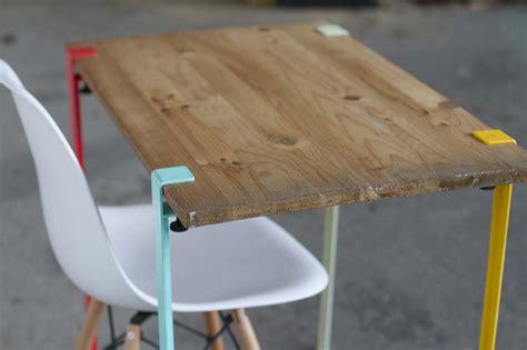 table ronde pliante cuisine idée déco de pieds de table