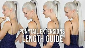 Ponytail Hair Extensions Length Guide