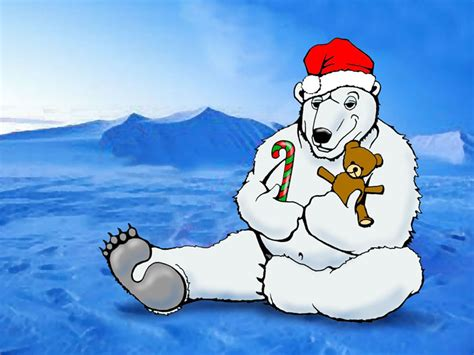 Christmas Polar Bear Wallpaper