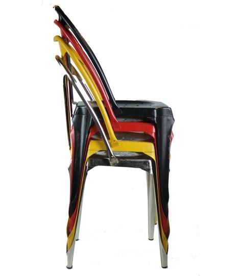 chaise style industriel en m 233 tal vintage noir wadiga com