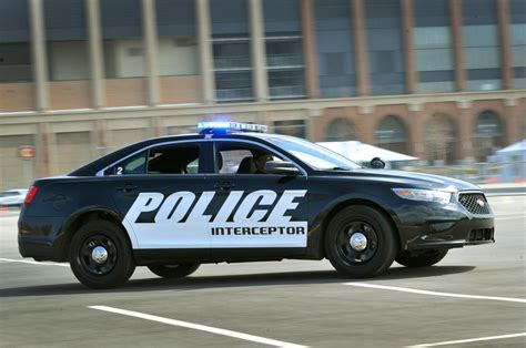 ford taurus based police car adds  liter ecoboost