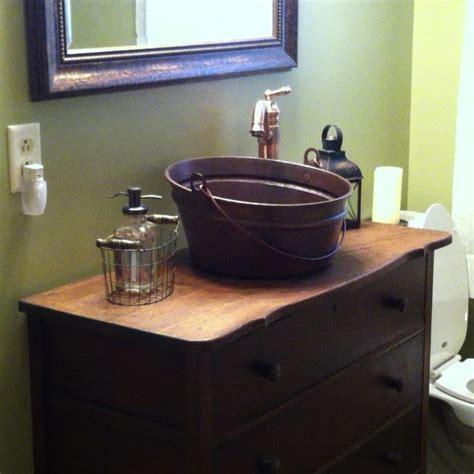Antique dresser with copper bucket vessel sink! OK! Where