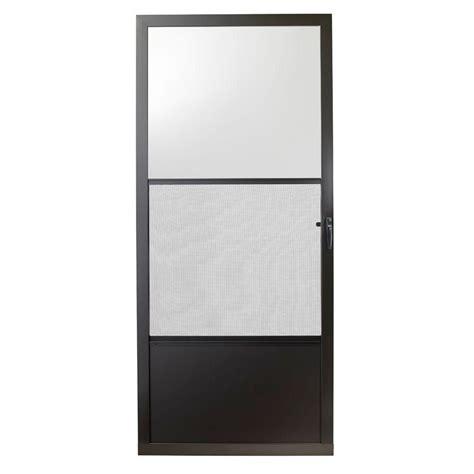 emco screen door emco 32 in x 80 in 75 series bronze self storing