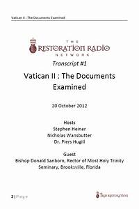 transcript vatican ii the documents examined pdf With vatican ii documents pdf download