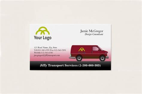 transportation business card templates psd ai