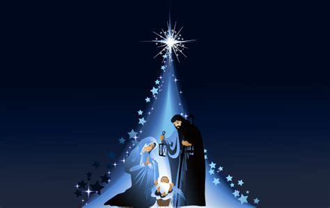 mary joseph  jesus    star vector