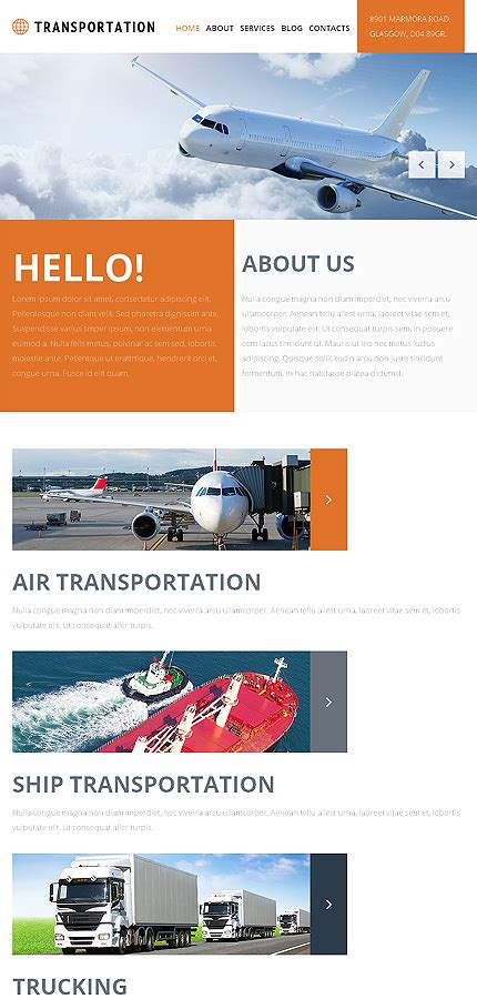 Joomla Org Templates Freight Shipping Joomla Template Website Templates