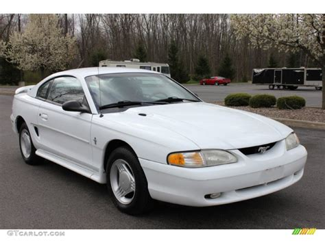 white ford mustang for white 1995 ford mustang v6 coupe exterior photo