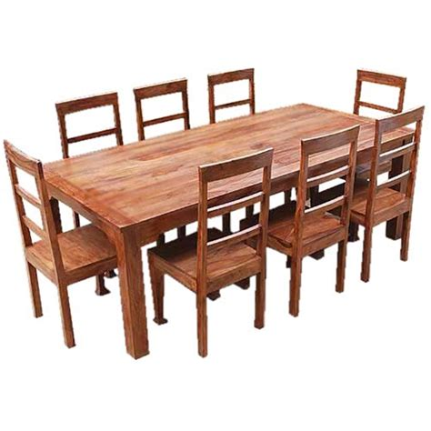 rustic furniture solid wood dining table chair set