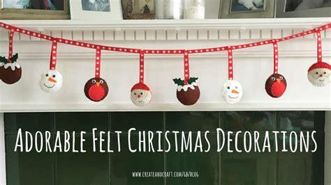adorable felt christmas decorations  templates