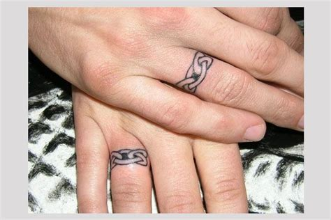 celtic knot band  fantastic wedding band tattoos