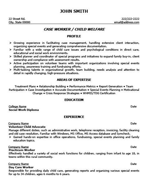 child welfare worker resume template premium resume