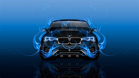 bmw  front fire abstract car  wallpapers el tony