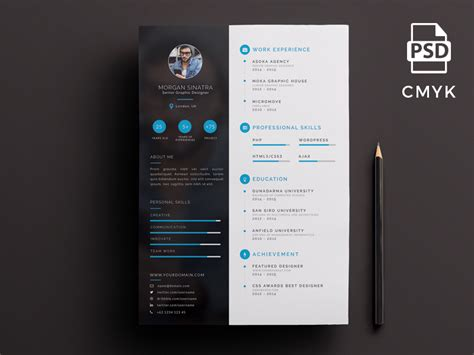 Creative Resume Templates Free Word by Creative Resume Template Free Psd Ui