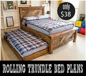DIY Rolling Trundle Bed Plans - Infarrantly Creative