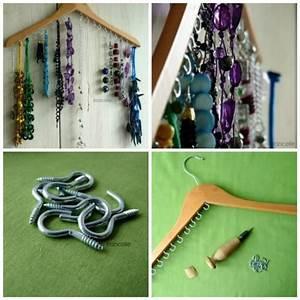 Idée Rangement Bijoux : 22 id es de rangement pour vos bijoux bricolage maison diy jewelry hanger diy jewelry et ~ Melissatoandfro.com Idées de Décoration