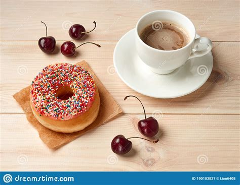 There are 155 calories in 250 ml of whole milk. Calorie Food, Coffee With Milk And Fried Doughnut With Icing Sugar Stock Image - Image of cake ...